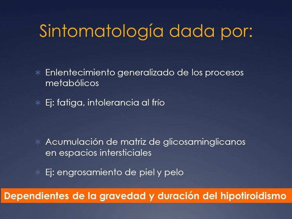 Sintomatología dada por: