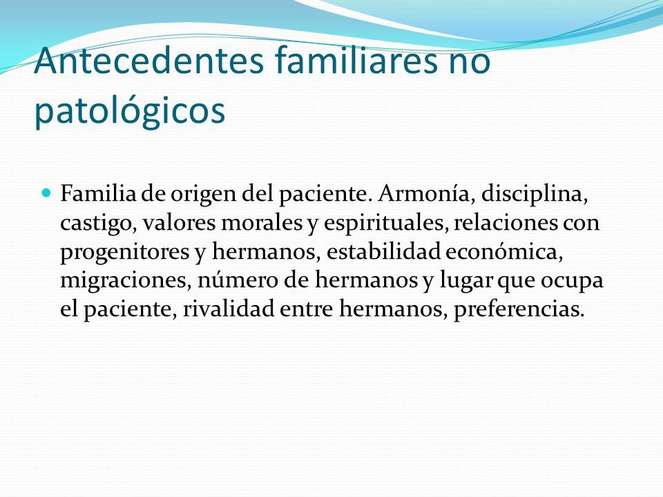 Antecedentes familiares no patológicos
