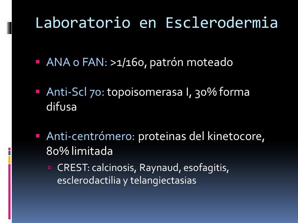 Laboratorio en Esclerodermia