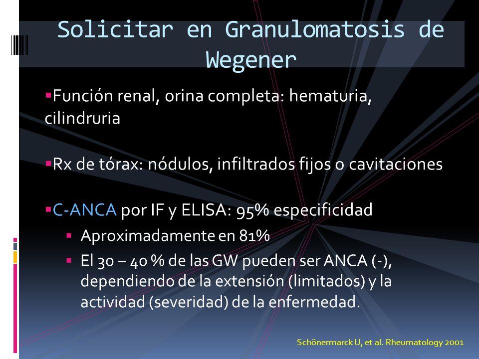 Solicitar en Granulomatosis de Wegener
