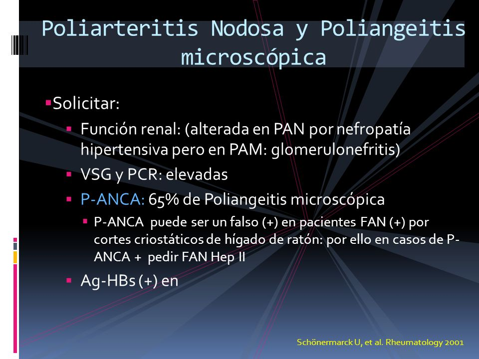 Poliarteritis Nodosa y Poliangeitis microscópica