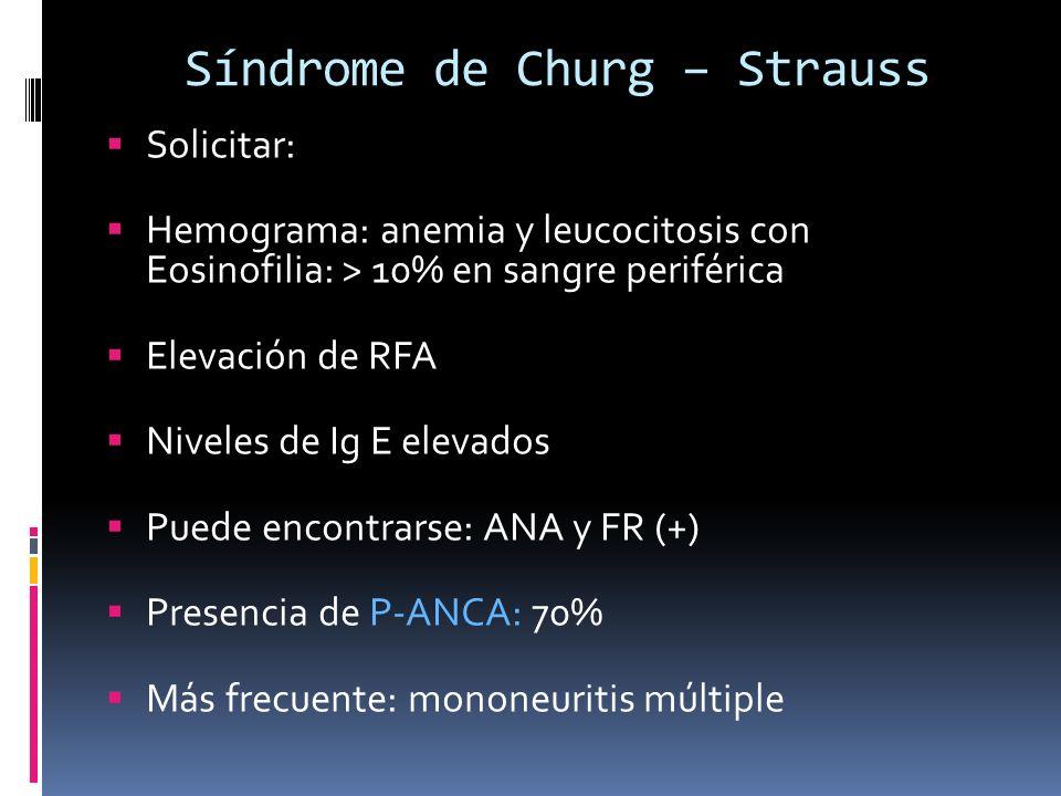 Síndrome de Churg – Strauss
