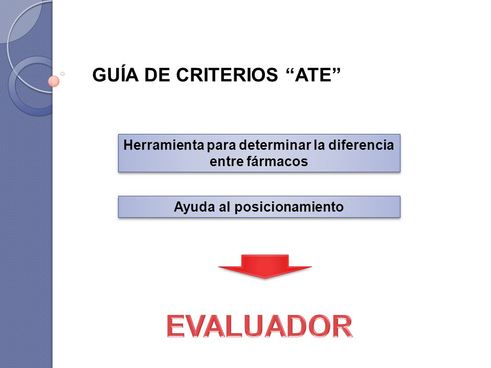 EVALUADOR GUÍA DE CRITERIOS ATE