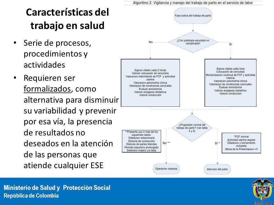 Características del trabajo en salud