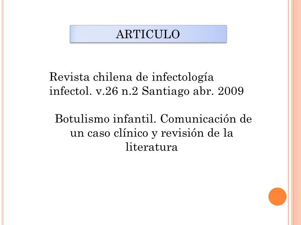 ARTICULO Revista chilena de infectología. infectol. v.26 n.2 Santiago abr. 2009.