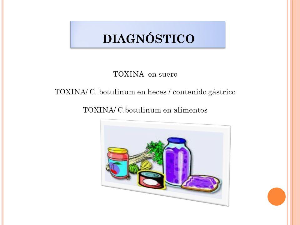 TOXINA/ C. botulinum en heces / contenido gástrico