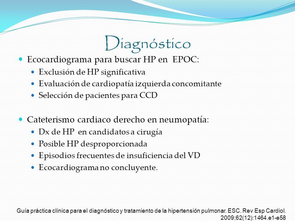Diagnóstico Ecocardiograma para buscar HP en EPOC: