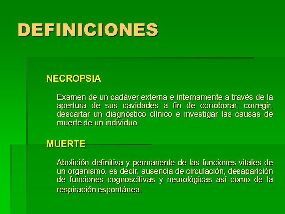 DEFINICIONES NECROPSIA MUERTE