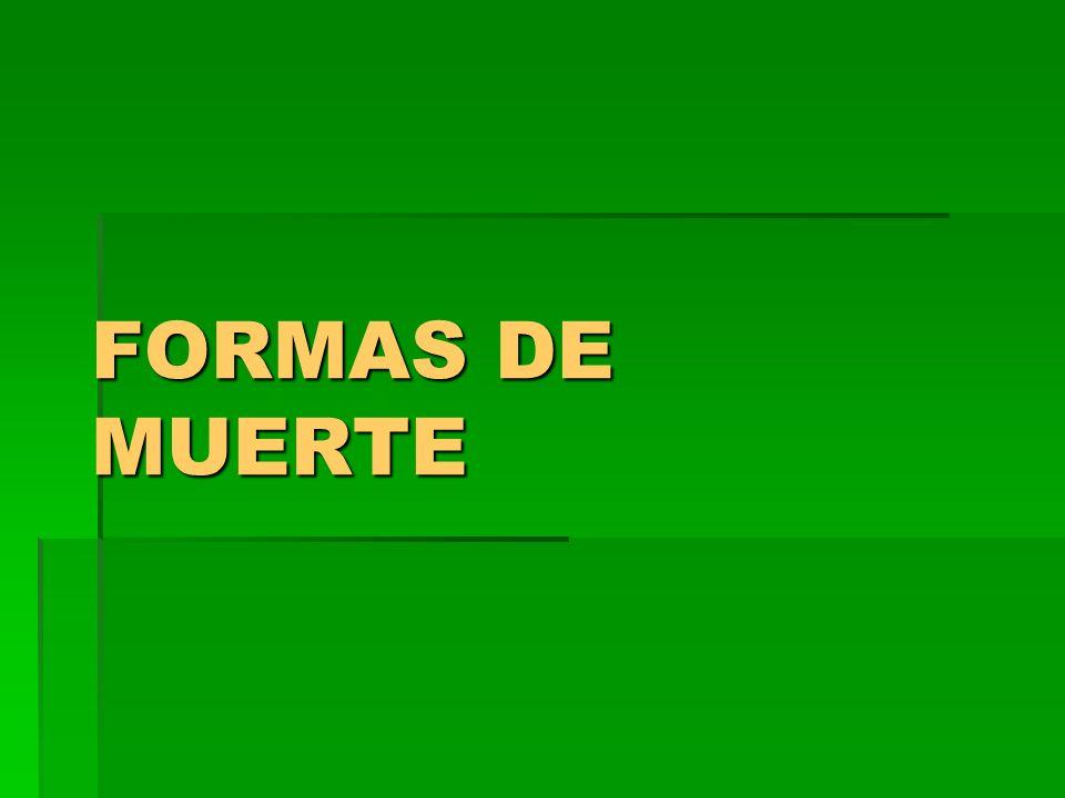 FORMAS DE MUERTE
