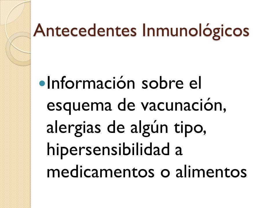 Antecedentes Inmunológicos