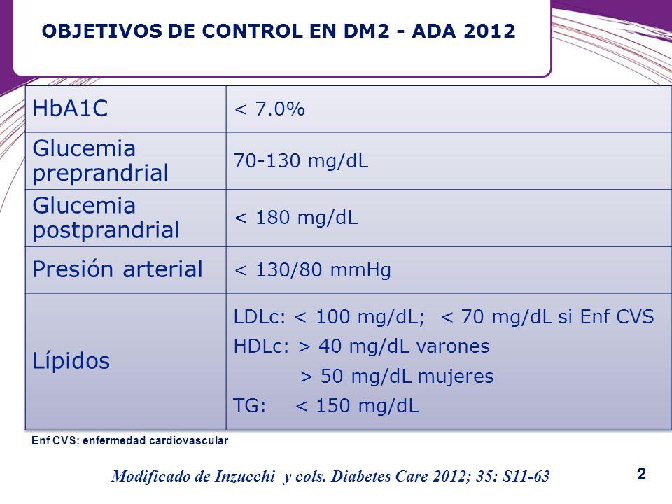 OBJETIVOS DE CONTROL EN DM2 - ADA 2012
