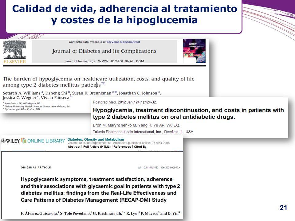 Calidad de vida, adherencia al tratamiento y costes de la hipoglucemia