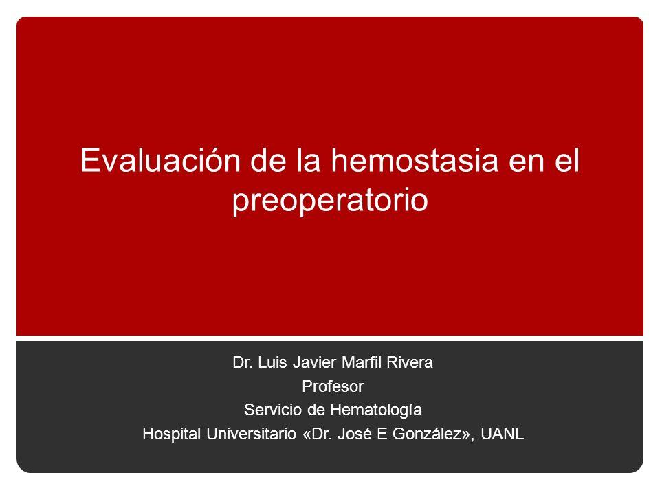 Evaluación de la hemostasia en el preoperatorio