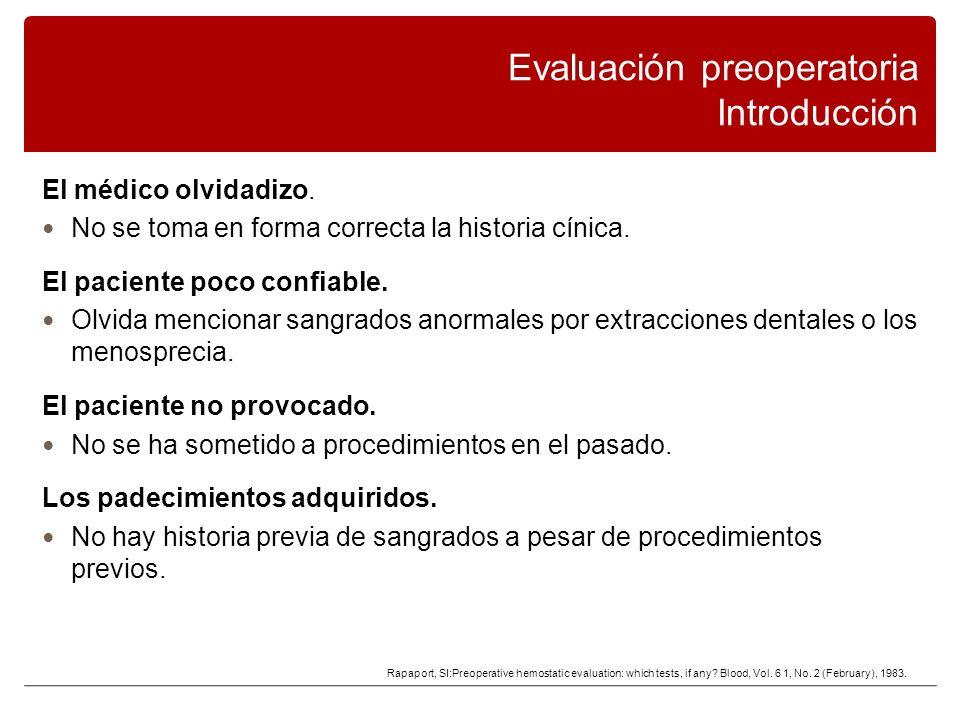 Evaluación preoperatoria Introducción