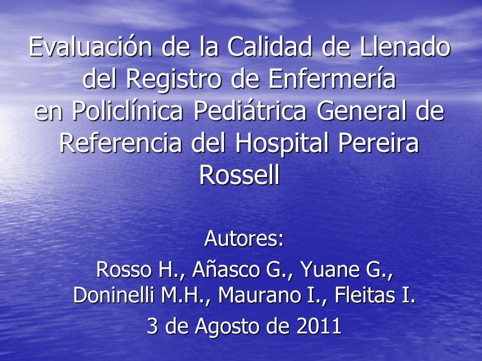 Rosso H., Añasco G., Yuane G., Doninelli M.H., Maurano I., Fleitas I.