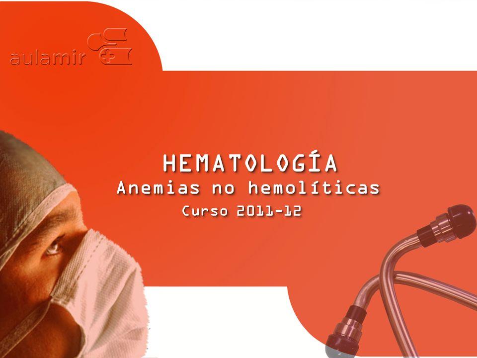 Anemias no hemolíticas
