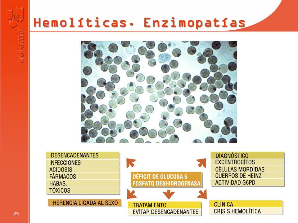 Hemolíticas. Enzimopatías