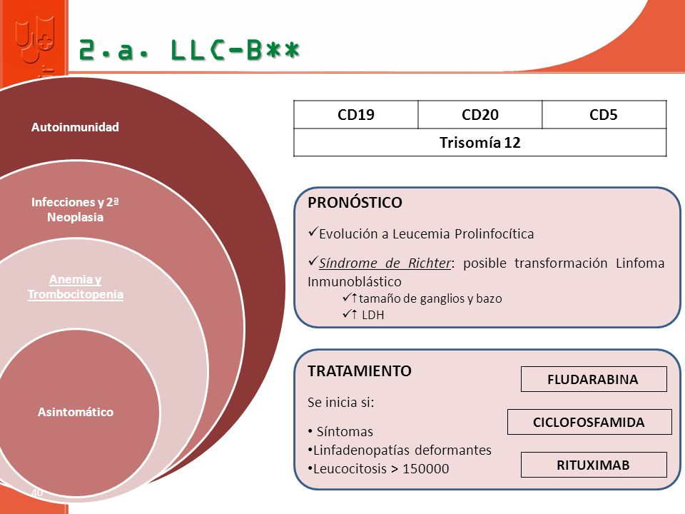 Infecciones y 2ª Neoplasia Anemia y Trombocitopenia