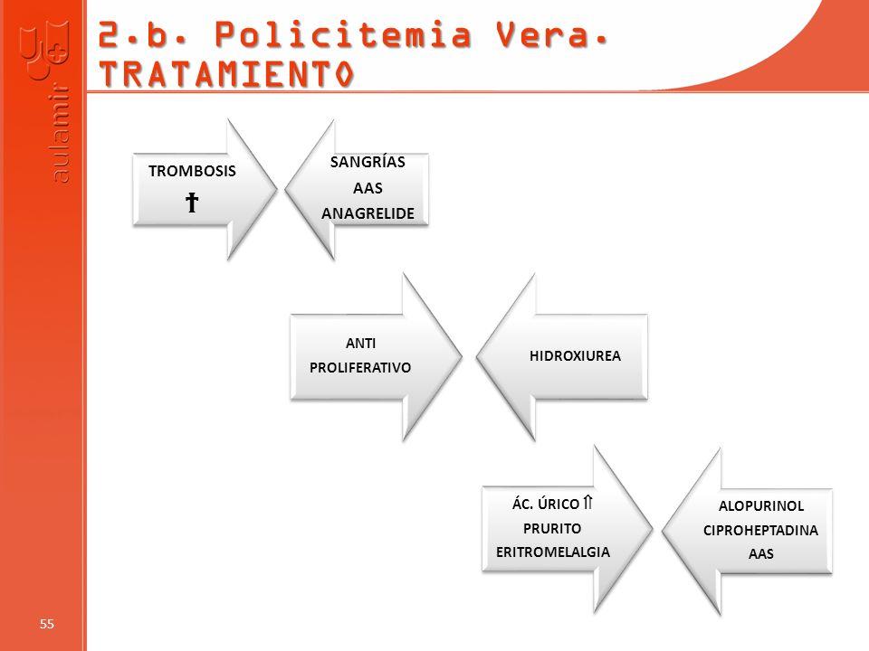 2.b. Policitemia Vera. TRATAMIENTO