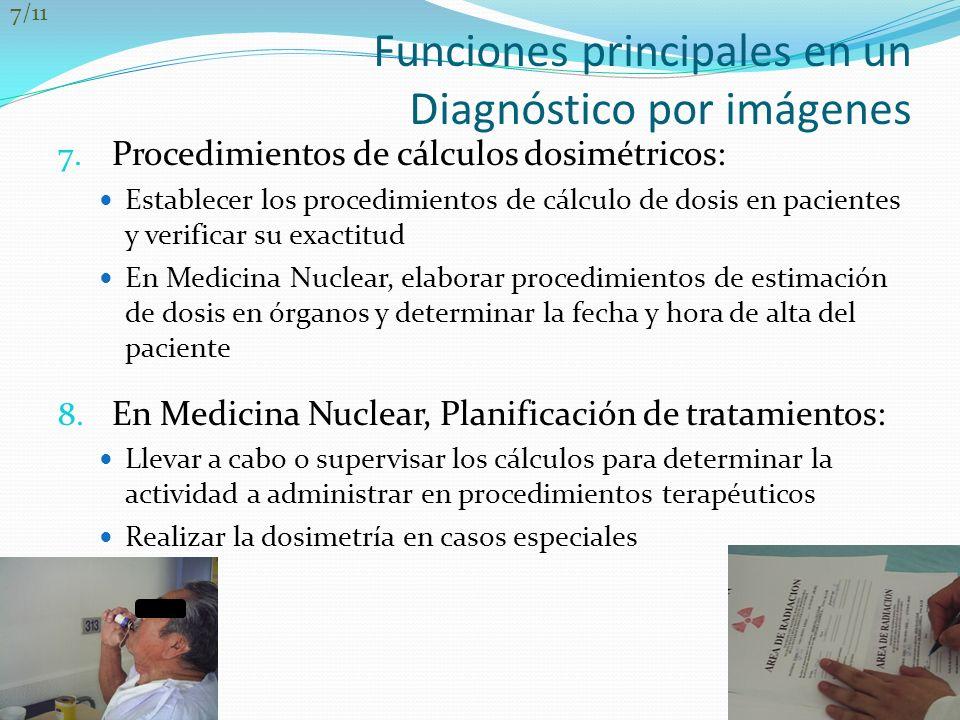 Funciones principales en un Diagnóstico por imágenes