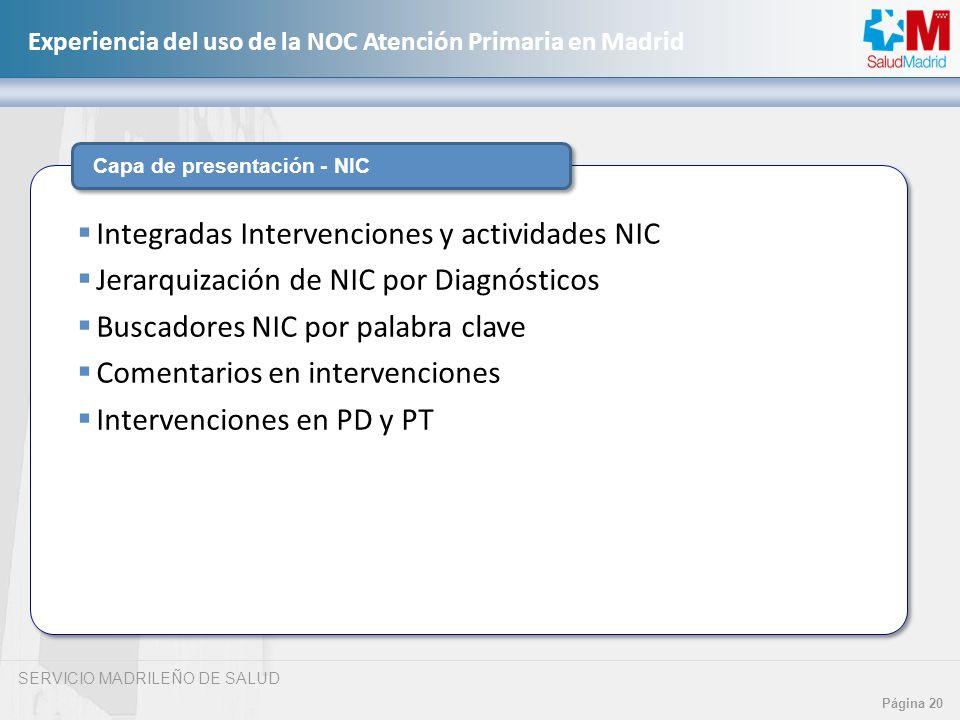 Integradas Intervenciones y actividades NIC