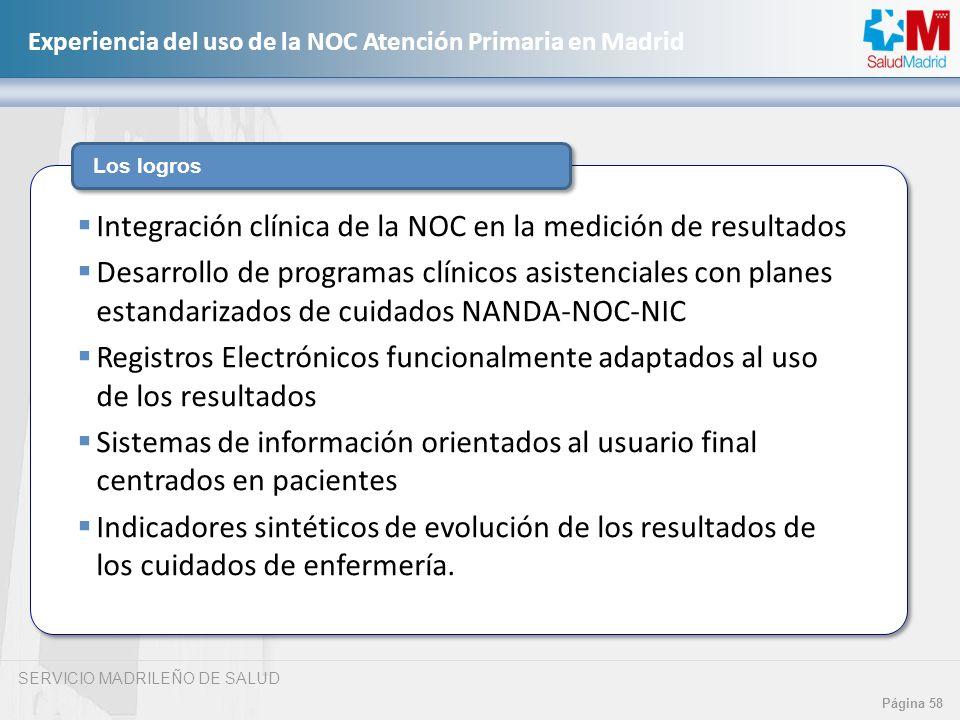Integración clínica de la NOC en la medición de resultados