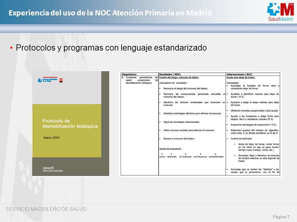 Protocolos y programas con lenguaje estandarizado