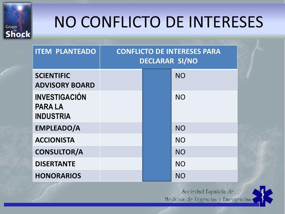NO CONFLICTO DE INTERESES