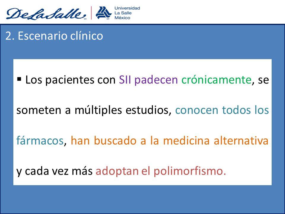 2. Escenario clínico