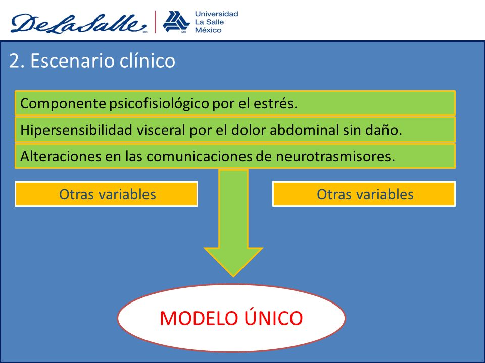 2. Escenario clínico MODELO ÚNICO