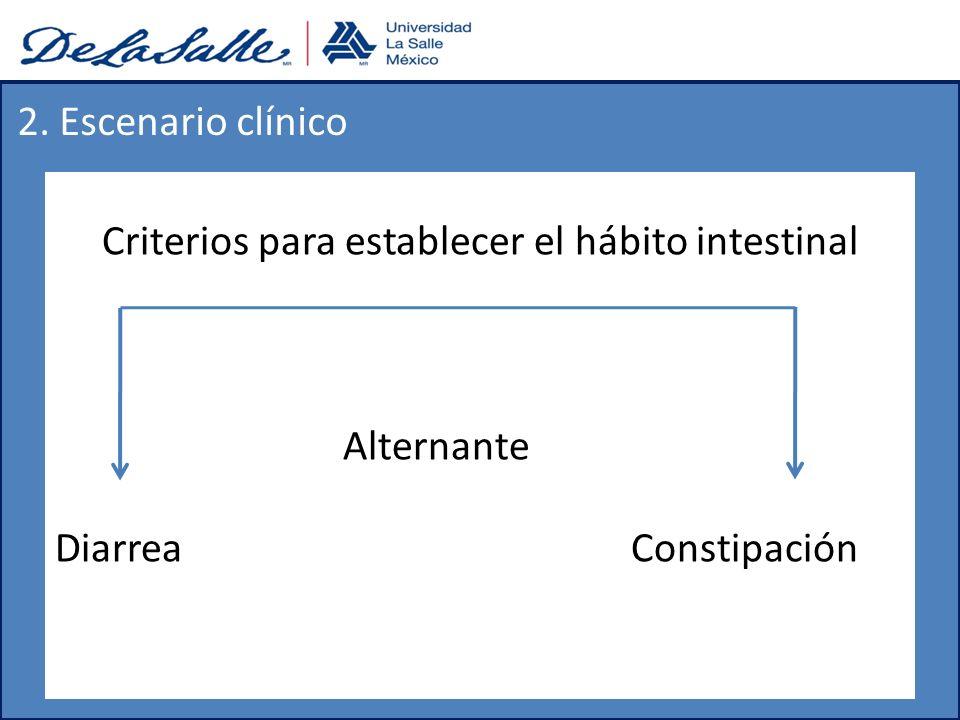 Criterios para establecer el hábito intestinal
