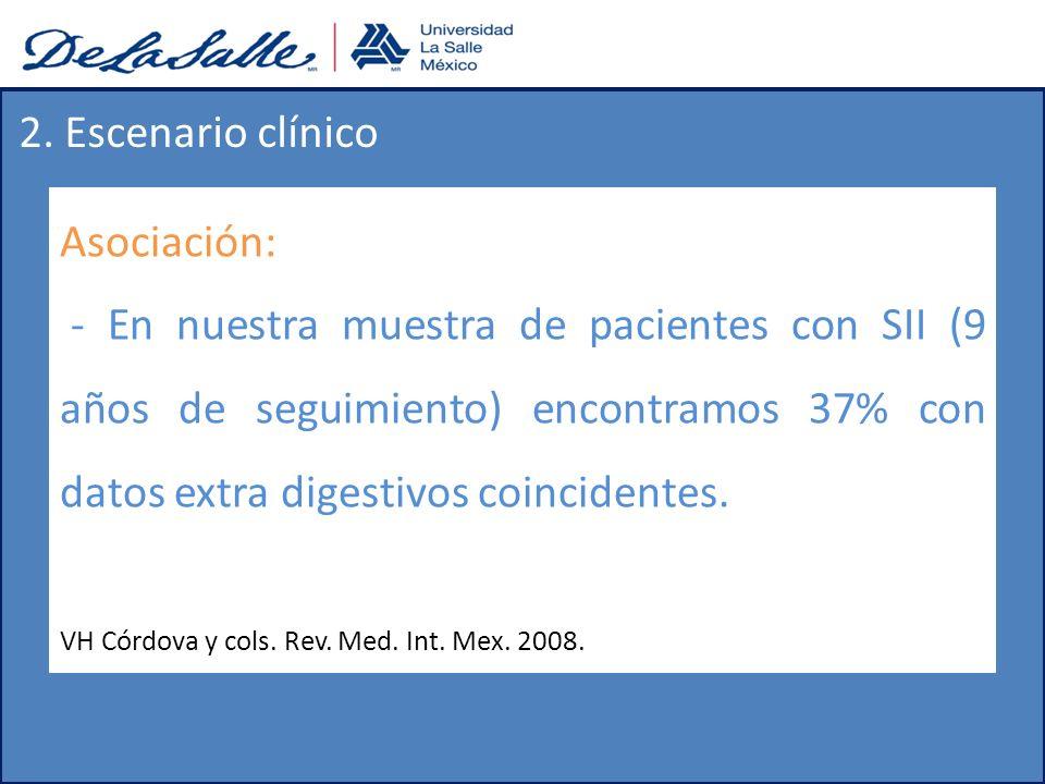 2. Escenario clínico Asociación: