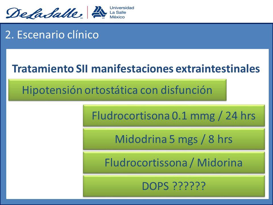 Tratamiento SII manifestaciones extraintestinales