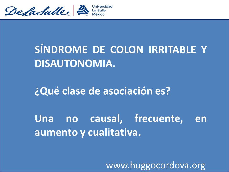 SÍNDROME DE COLON IRRITABLE Y DISAUTONOMIA.