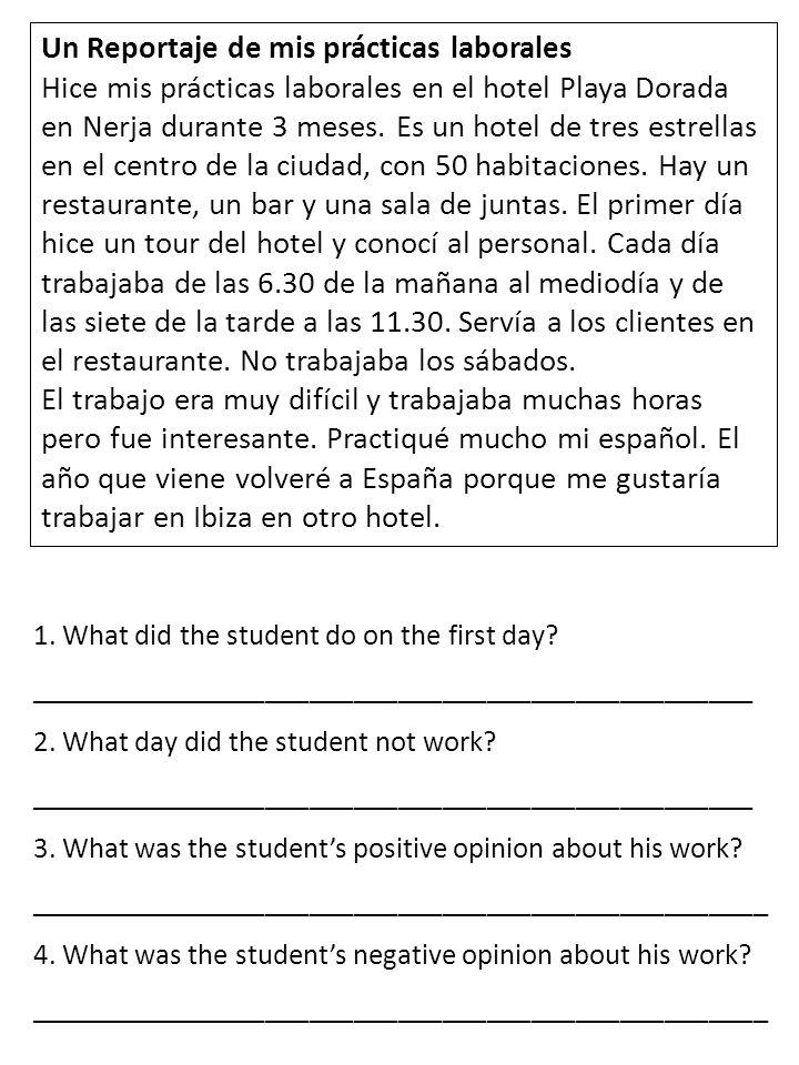 Un Reportaje de mis prácticas laborales