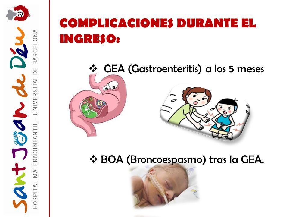 COMPLICACIONES DURANTE EL INGRESO: