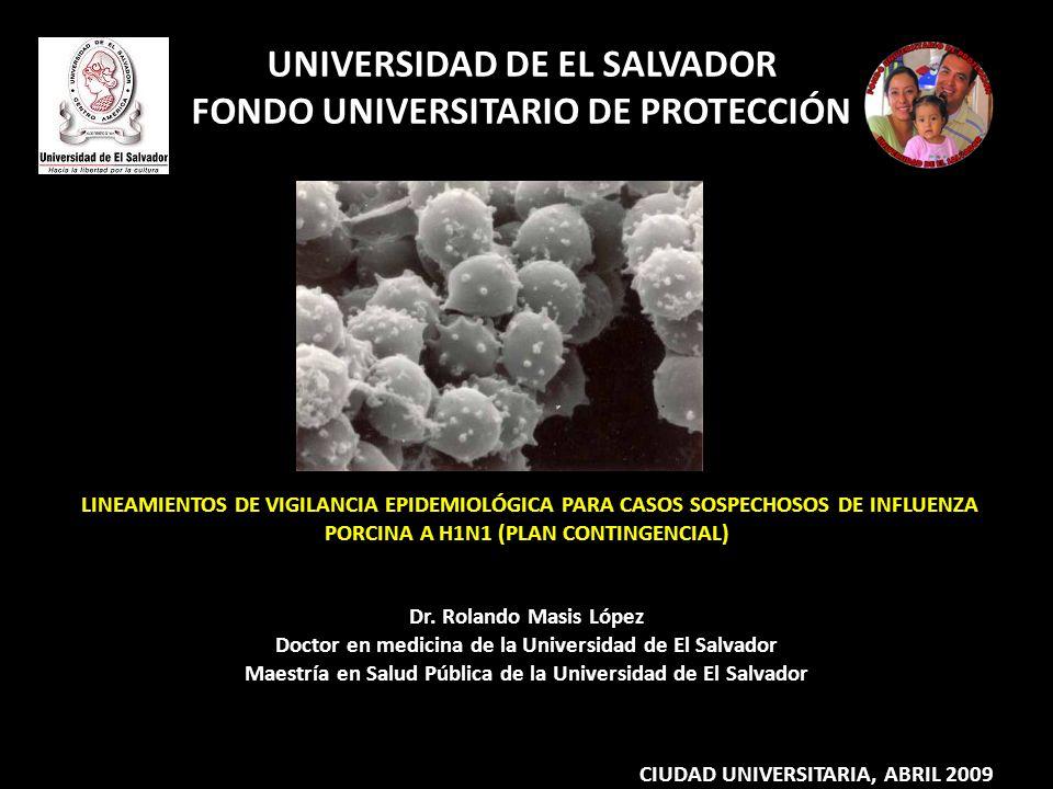 UNIVERSIDAD DE EL SALVADOR FONDO UNIVERSITARIO DE PROTECCIÓN