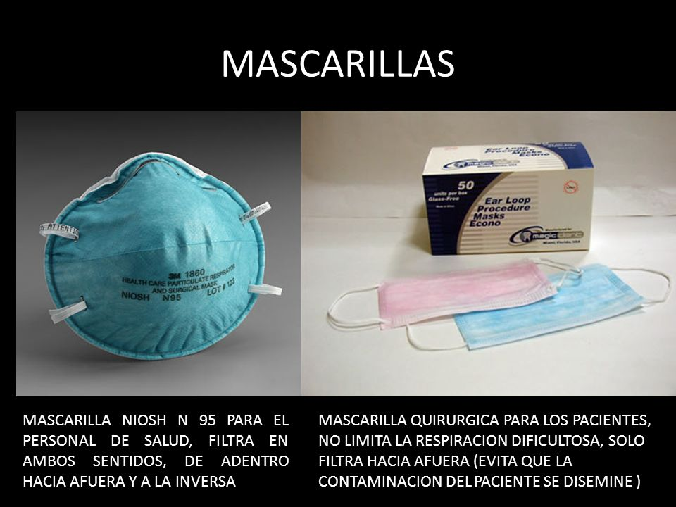 MASCARILLAS MASCARILLA NIOSH N 95 PARA EL PERSONAL DE SALUD, FILTRA EN AMBOS SENTIDOS, DE ADENTRO HACIA AFUERA Y A LA INVERSA.