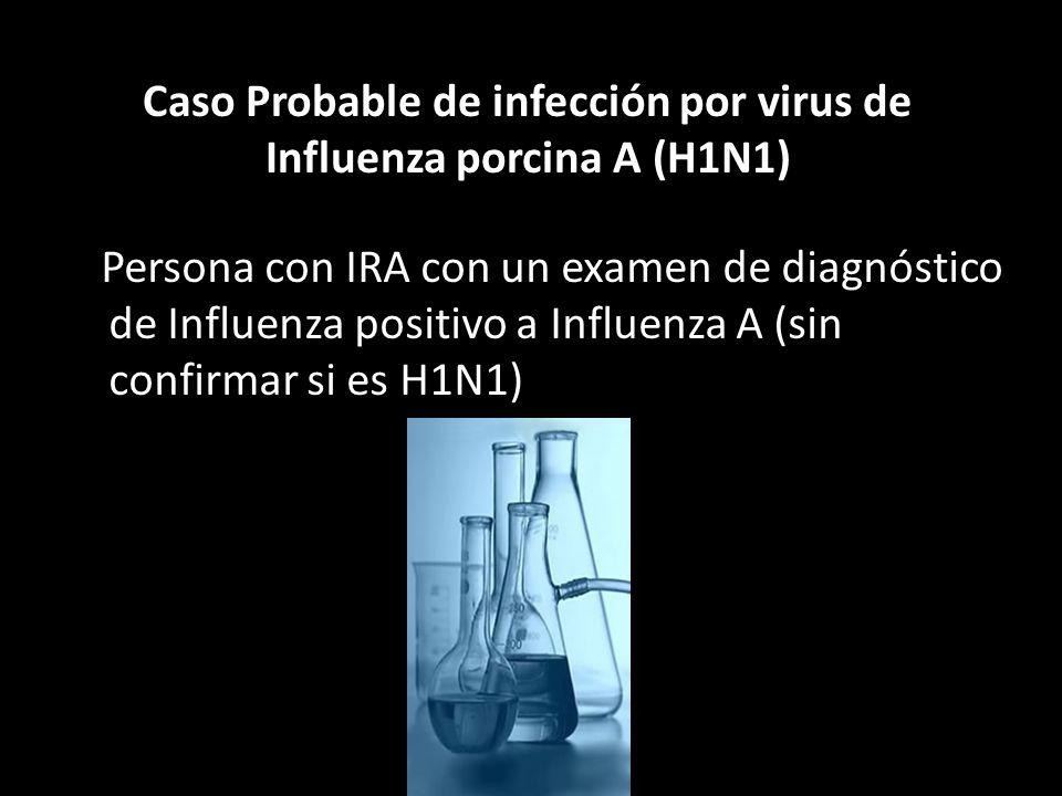 Caso Probable de infección por virus de Influenza porcina A (H1N1)