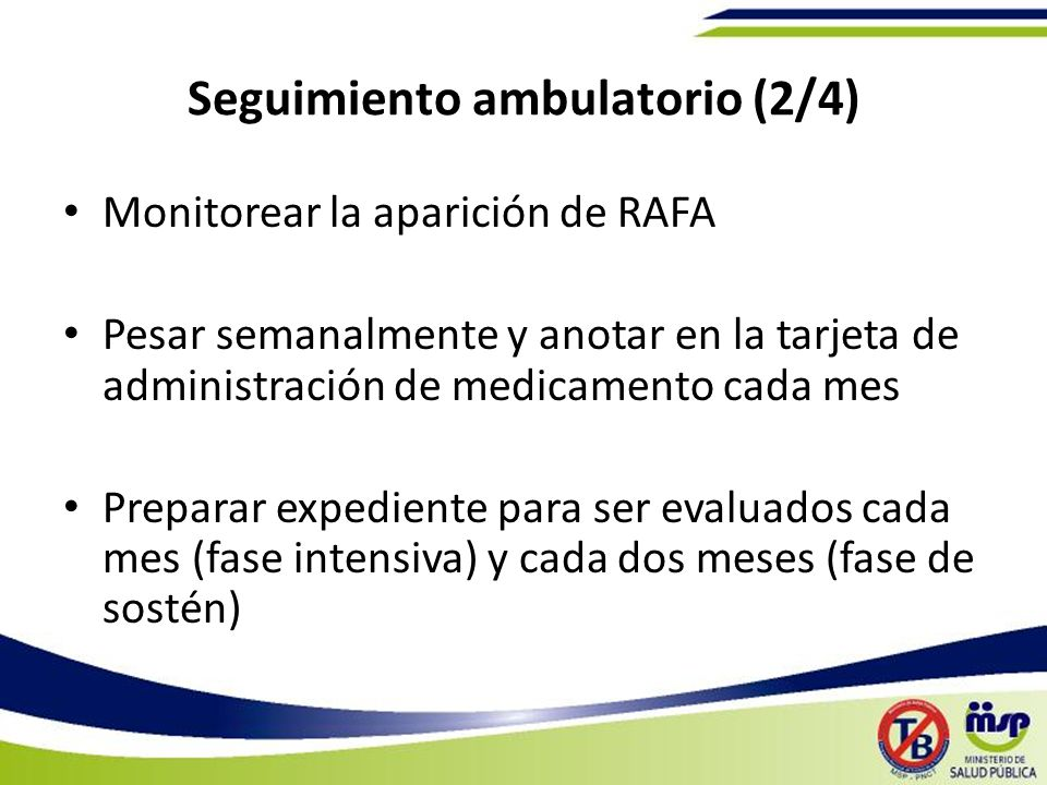 Seguimiento ambulatorio (2/4)