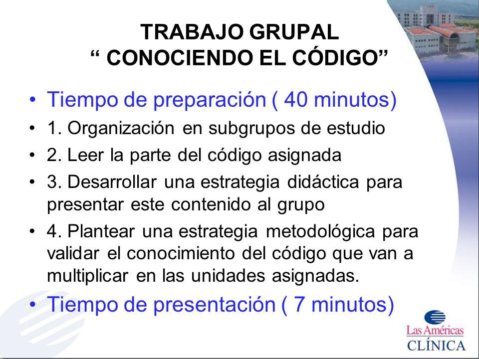 TRABAJO GRUPAL CONOCIENDO EL CÓDIGO