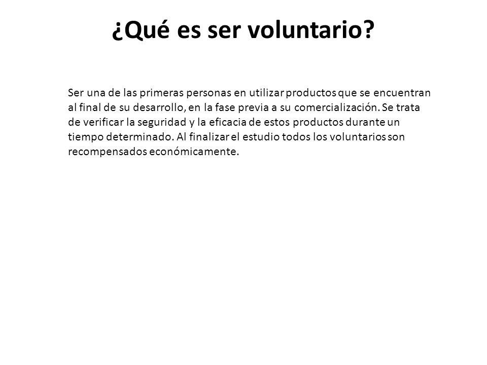 ¿Qué es ser voluntario