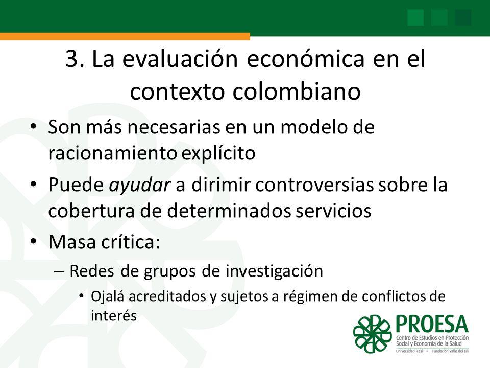 3. La evaluación económica en el contexto colombiano