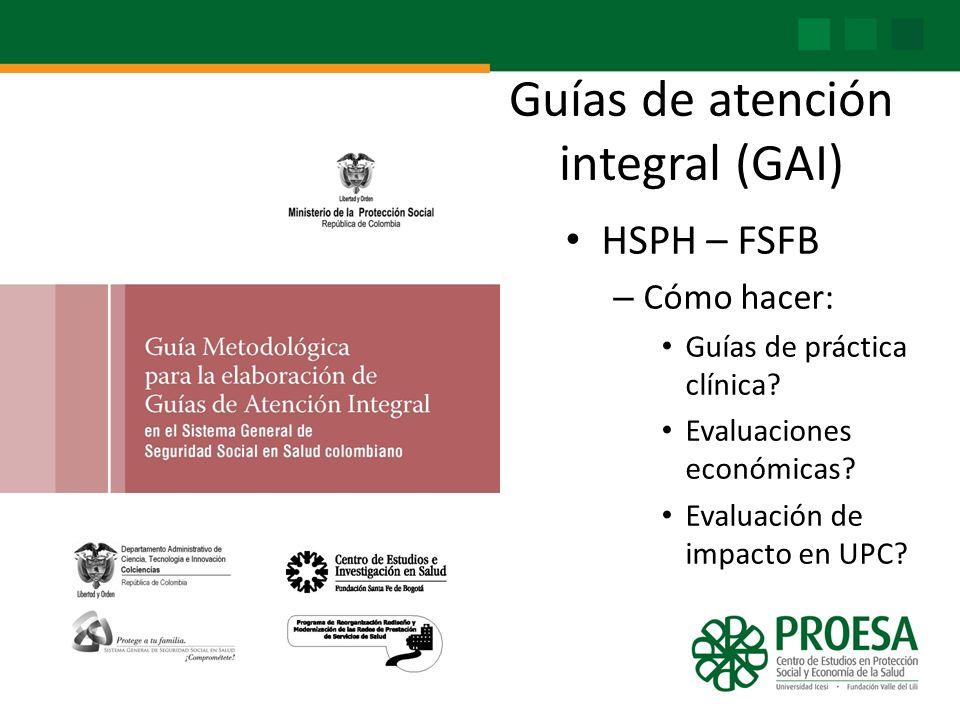 Guías de atención integral (GAI)