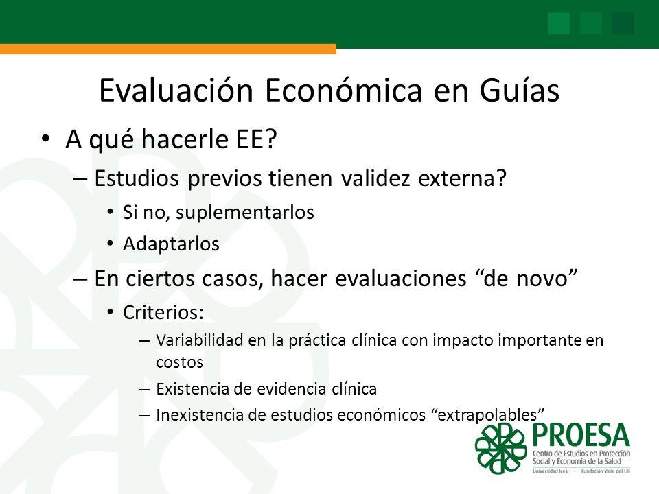 Evaluación Económica en Guías