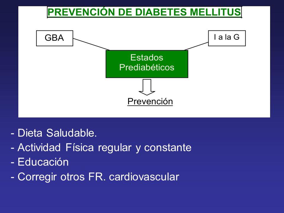 - Dieta Saludable. - Actividad Física regular y constante.