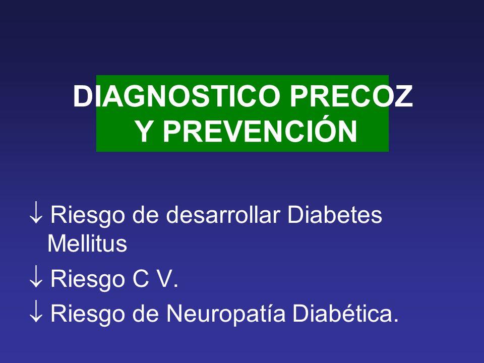 DIAGNOSTICO PRECOZ Y PREVENCIÓN