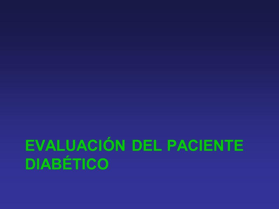Evaluación del paciente diabético