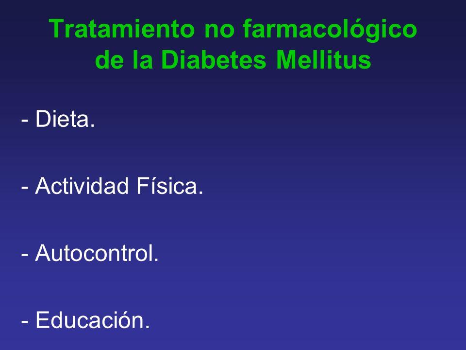 Tratamiento no farmacológico de la Diabetes Mellitus