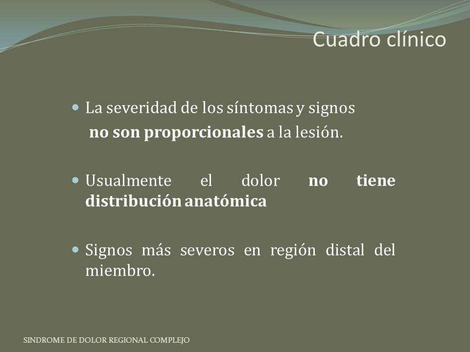 Cuadro clínico La severidad de los síntomas y signos